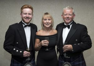 Perthshire Chamber of Commerce Business Star Awards 2017…Crieff Hydro Hotel Callum, Liz and Philip McKenna Picture by Graeme Hart.  Copyright Perthshire Picture Agency Tel: 01738 623350  Mobile: 07990 594431